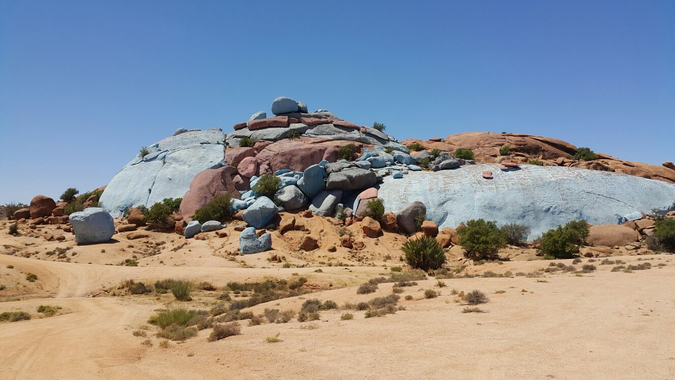 Les rochers peints